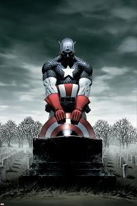 Captain America No.4 Cover: Captain America by Steve Epting