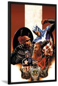 Captain America No.42 Cover: Captain America, Red Skull, Zola and Arnim by Steve Epting