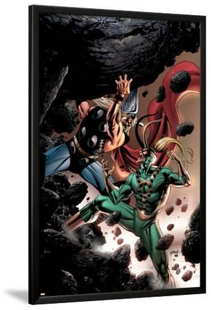 Thor No.84 Cover: Thor and Loki Fighting and Flying