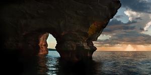 Apostle Islands Sea Cave by Steve Gadomski