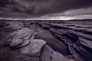 Bisti Fissure New Mexico BW by Steve Gadomski
