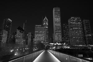 Chicago Lights BW by Steve Gadomski
