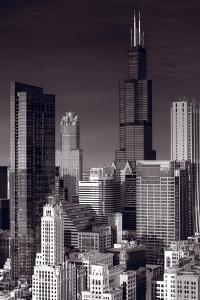 Chicago Loop Towers BW by Steve Gadomski