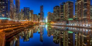 Chicago River East by Steve Gadomski