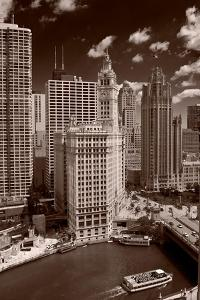 Chicago Summer, Sepia by Steve Gadomski