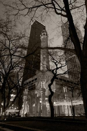 Chicago Water Tower BW by Steve Gadomski