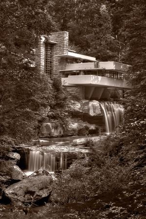 Falling Water View BW