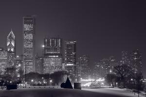 Lake Shore Drive Chicago BW by Steve Gadomski