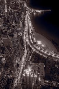 Lakeshore Drive Aloft BW Warm Toned by Steve Gadomski