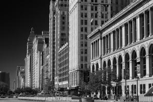Michigan Avenue Chicago BW by Steve Gadomski