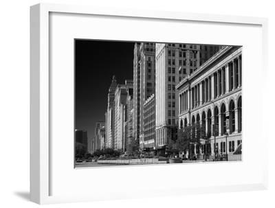 Michigan Avenue Chicago BW