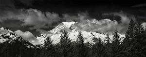 Mt Rainier Panorama BW by Steve Gadomski