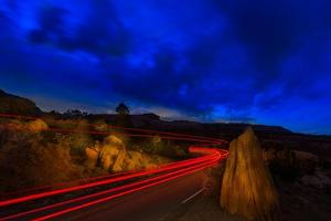 Nighttime Desert Road Trip by Steve Gadomski