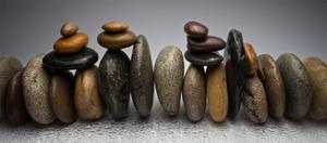 Stacked River Stones by Steve Gadomski
