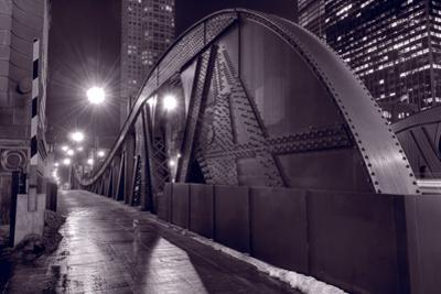 Steel Bridge Chicago BW by Steve Gadomski