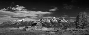 T A Moulton Barn Panorama BW by Steve Gadomski