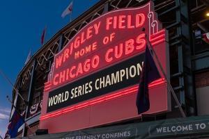 Wrigley Field World Series Marquee by Steve Gadomski