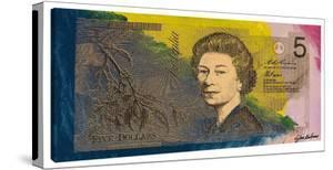 Australian Five Dollar Bill w/ Queen Elizabeth II by Steve Kaufman