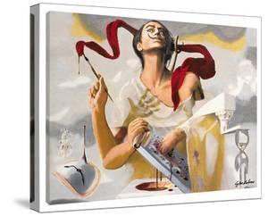 Homage To Dali: Self Portrait by Steve Kaufman