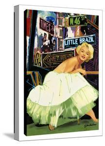 Marilyn In Times Square by Steve Kaufman