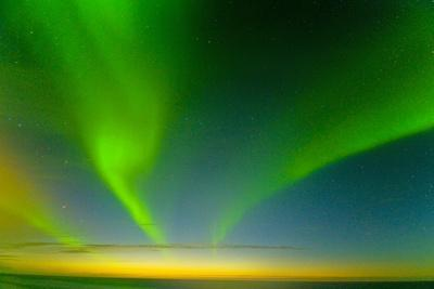 Northern Lights over the Sea, Beaufort Sea, ANWR, Alaska, USA