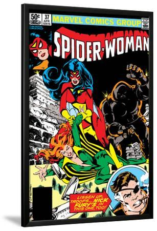 Spider-Woman No.37 Cover: Spider Woman, Siryn, Juggernaut and Nick Fury