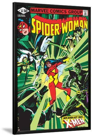 Spider-Woman No.38 Cover: Spider Woman, Colossus, Juggernaut, Angel, Storm and X-Men