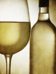 Glass and Bottle of White Wine by Steve Lupton