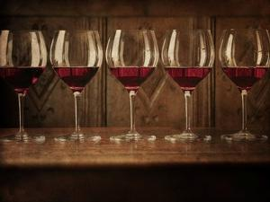 Glasses of Red Wine in a Row by Steve Lupton