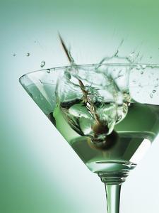 Martini with Olive Splash by Steve Lupton