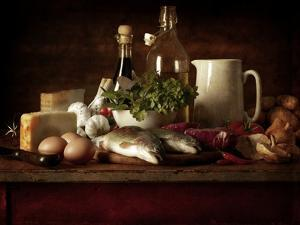 Range of Fresh Ingredients for Cooking by Steve Lupton