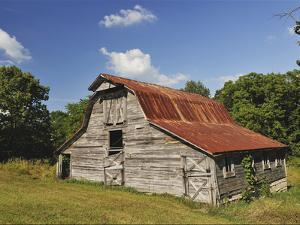 A 100-Year-Old Barn Sits Along Historic Maple Grove Road by Steve Raymer
