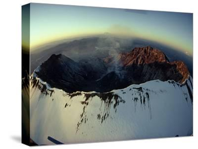 Aerial View of the Mount St. Helens Crater Taken after the Eruption