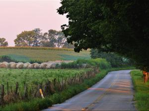 Fields and Haystacks in the Maple Grove Road Rural Historic District by Steve Raymer