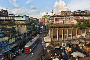 Kolkata's Thoroughfare, Chitpur Road, Winds Through the City Center by Steve Raymer