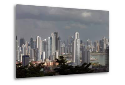 The Skyline of Panama City, Capital of Panama Glistens in the Sun Above the Pacific Ocean