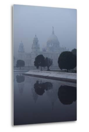 Victoria Memorial Is Enveloped in Ground Fog On a Cold Winter Morning in Calcutt