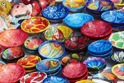 Mexico, Jalisco. Bowls for Sale in Street Market