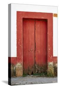 Mexico, Jalisco, San Sebastian del Oeste. Colorful Rustic Door by Steve Ross