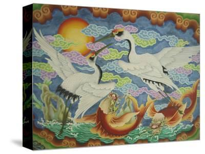 Ceiling Mural of Cranes and Catfish, Nankunshen Temple, Peimen, Taiwan