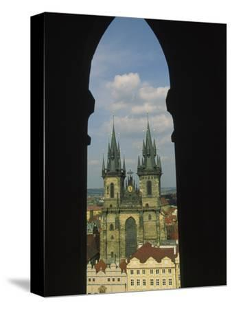 View of Tyn Church in Old Town Square, Prague, Czech Republic