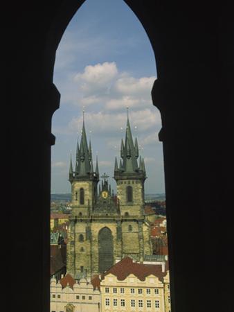 View of Tyn Church in Old Town Square, Prague, Czech Republic