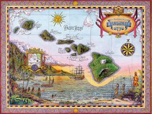 Antique Map of Old Hawaii by Steve Strickland