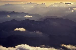 Aerial View of North Cascade Mountain Range by Steve Terrill