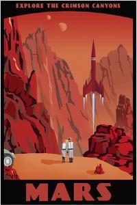 Crimson Canyons Of Mars by Steve Thomas