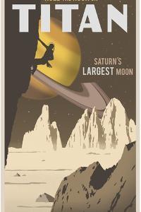 Rock Climbing On Titan by Steve Thomas