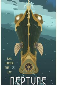 Sail Under The Ice Of Neptune by Steve Thomas