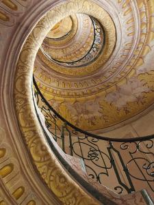Austria, Wachau, Melk, the Abbey, Stairway in the Abbey by Steve Vidler