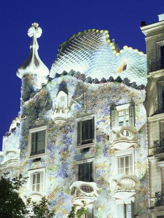 Barcelona, Casa Batllo, Spain by Steve Vidler