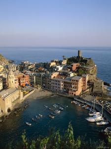 Cinque Terre, Coastal View and Village, Vernazza, Liguria, Italy by Steve Vidler